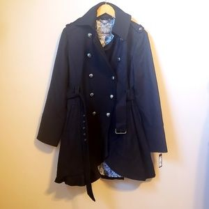 NWT Guess double breasted peacoat XL